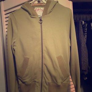 Green hoodie sweatshirt